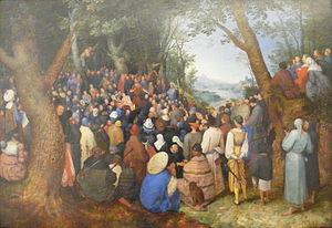 Jan Brueghel the Elder, John the Baptist preaching