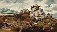 Jan Jansz Mostaert - Landschap met een episode uit de verovering van Amerika - NK3259 - Rijksmuseum.jpg