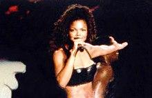 La cantante durante il Janet World Tour nel 1995.
