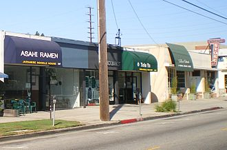 Sawtelle, Los Angeles - Japanese businesses on Sawtelle Bvld. north of Olympic Blvd, in the Sawtelle municipal area