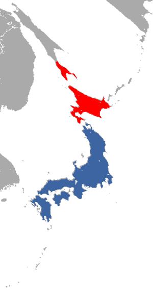 Japanese weasel - Image: Japanese Weasel area