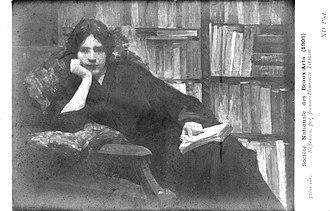 Henriette Tirman - Jeanne-Henriette Tirman, Réflexion (self-portrait), Salon (SNBA) 1908
