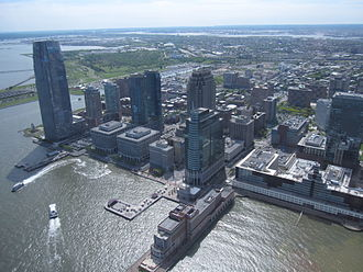 Exchange Place (Jersey City) - Aerial view (2010)