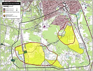 Battle of Jerusalem Plank Road - Map of Jerusalem Plank Road Battlefield core and study areas by the American Battlefield Protection Program.