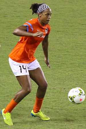 Jessica McDonald - McDonald playing for Houston Dash in 2015