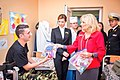 Jill Biden and Maryna Poroshenko at a Ukrainian military hospital in 2014.jpg