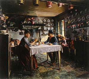 Jožef Petkovšek - Beneška kuhinja/Venetian Kitchen (1888)