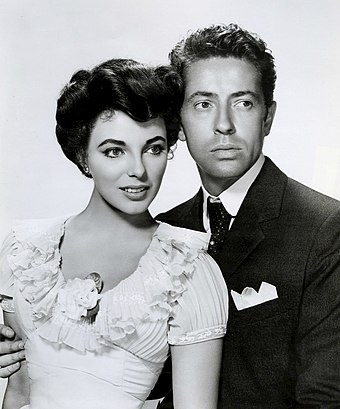 Collins and Farley Granger for The Girl in the Red Velvet Swing (1955) Joan Collins Farley Granger The Girl in the Red Velvet Swing.jpg