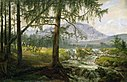 Johan Christian Claussen Dahl - Tyrolean Landscape with Spruce Trees and a Waterfall.jpg