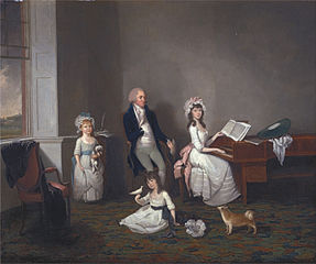 John Richard Comyns of Hylands, Essex, with His Daughter