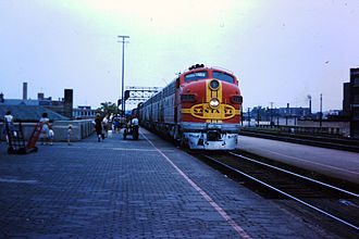 Grand Canyon Limited - Image: Joliet ATSF Aug 1963 3 22
