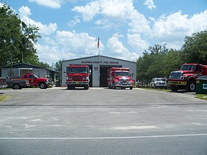 Jonesville, Florida - Fire station
