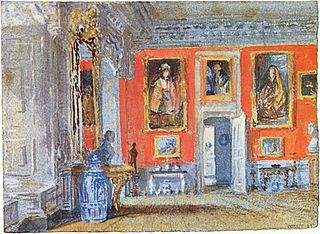 The Red Room in Petworth House, Sussex