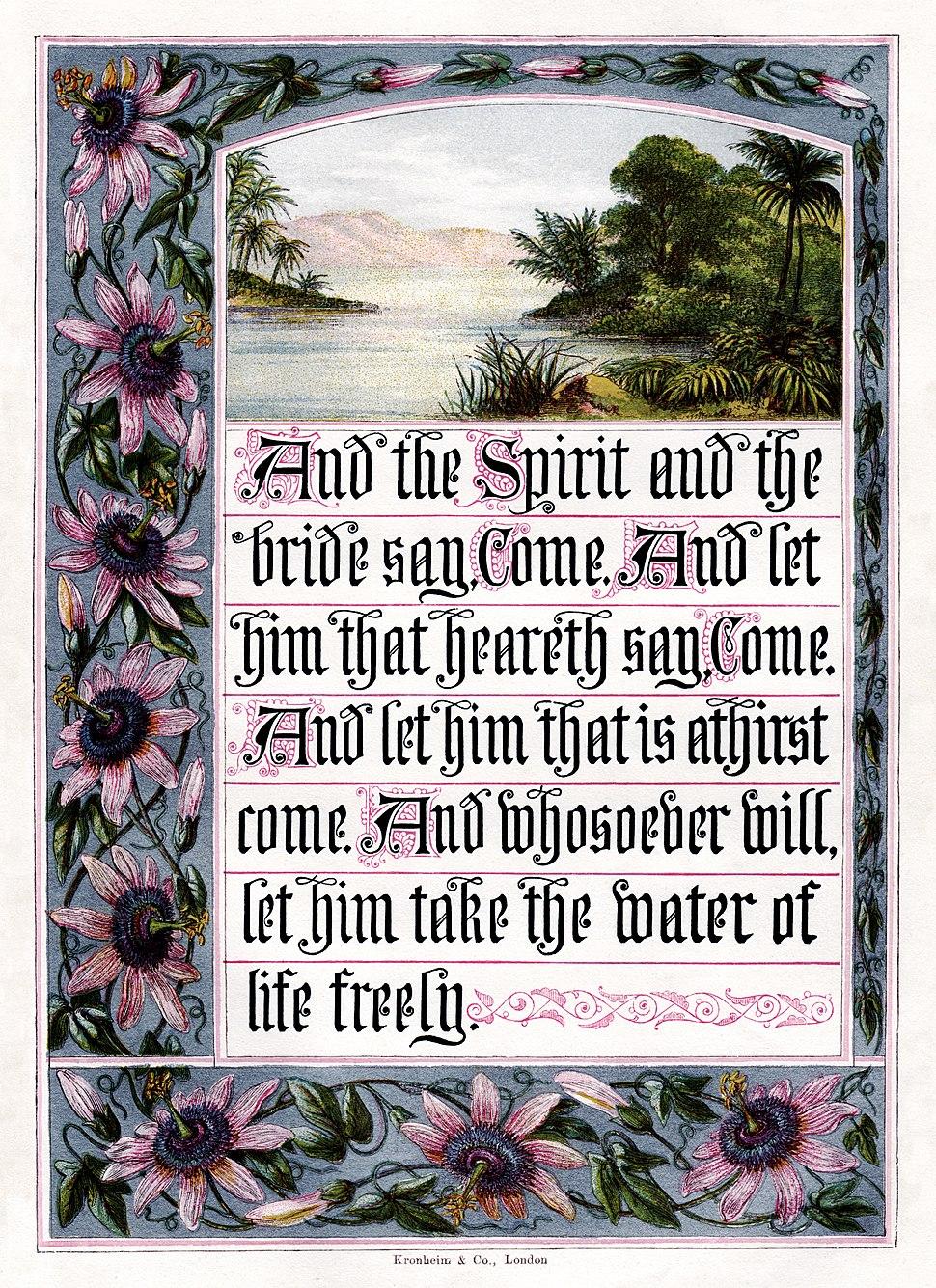 Joseph Martin Kronheim - The Sunday at Home 1880 - Revelation 22-17