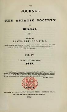 Journal of the Asiatic Society of Bengal Vol 4.djvu