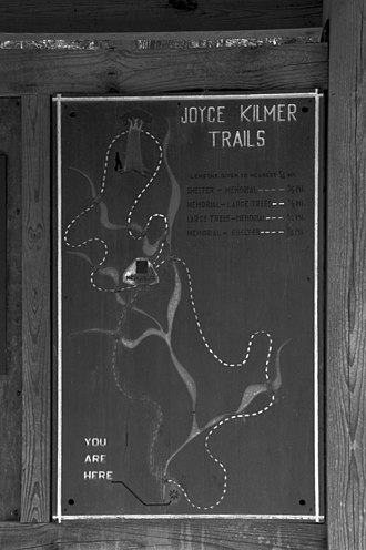 Joyce Kilmer Memorial Forest - Image: Joyce kilmer forest map