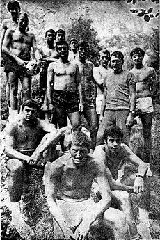 Радивој Кораћ (у првом плану) и југословенски репрезентативци 1968.