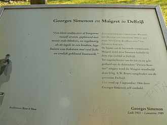 Jules Maigret - Jules Maigret memorial plaque