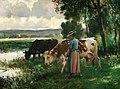 Julien Dupré - Les Vaches a l'Abreuvoir.jpg
