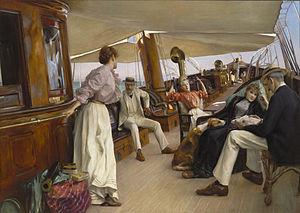 "James Gordon Bennett Jr. - Image: Julius Le Blanc Stewart On the Yacht""Namouna"", Venice"