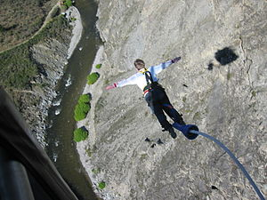 English: Jump from Nevis Bungee Platform near ...