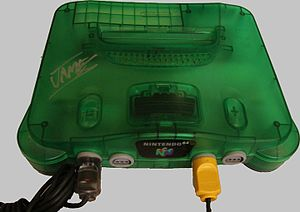 "Donkey Kong 64 - Donkey Kong 64 was the first game to require the Nintendo 64's Expansion Pak (pictured), a memory upgrade. The game was also bundled for sale with a special edition Nintendo 64 console manufactured in a translucent, ""jungle green""."
