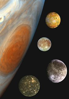 Galilean moons Four largest moons of Jupiter