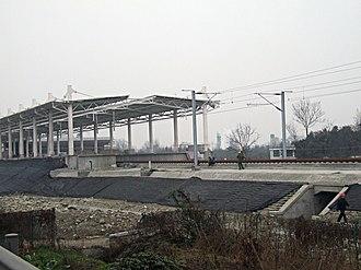 Chengdu–Dujiangyan intercity railway - Image: Juyuan Station, Chengdu Dujiangyan Railway, 2010 02 19