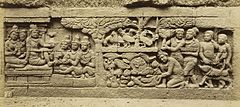 KITLV 40068 - Kassian Céphas - Relief of the hidden base of Borobudur - 1890-1891.jpg