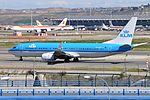 KLM Royal Dutch Airlines, Boeing 737-800, PH-BXU - MAD (19471426578).jpg