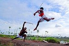 Kalaripayattu mock combat in rural Kerala.jpg