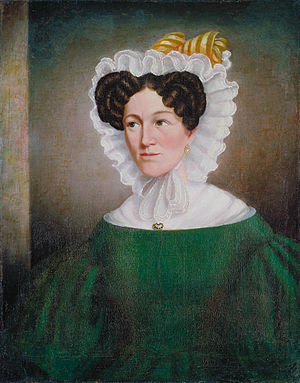 Paul Kane - An early portrait (ca. 1834–36) attributed to Paul Kane, showing Mrs. Eliza Clarke Cory Clench