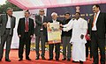 Kapil Sibal releasing the official calendar 2013, brought out by the DAVP, in New Delhi. The Minister of State (Independent Charge) for Information & Broadcasting, Shri Manish Tewari, the Minister of State for Personnel.jpg