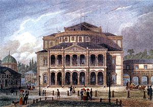 Badisches Staatstheater Karlsruhe - Hoftheater by Heinrich Hübsch, 1853 to 1944