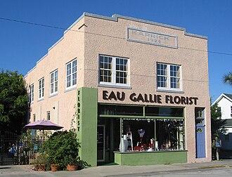 Karrick Building (Eau Gallie, Florida) - Oblique view of the Karrick Building
