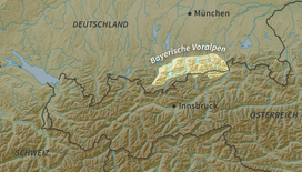 The Bavarian Prealps within the Eastern Alps