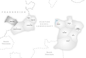 Rodersdorf - Image: Karte Gemeinde Rodersdorf
