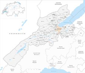 Map of Yverdon-les-Bains