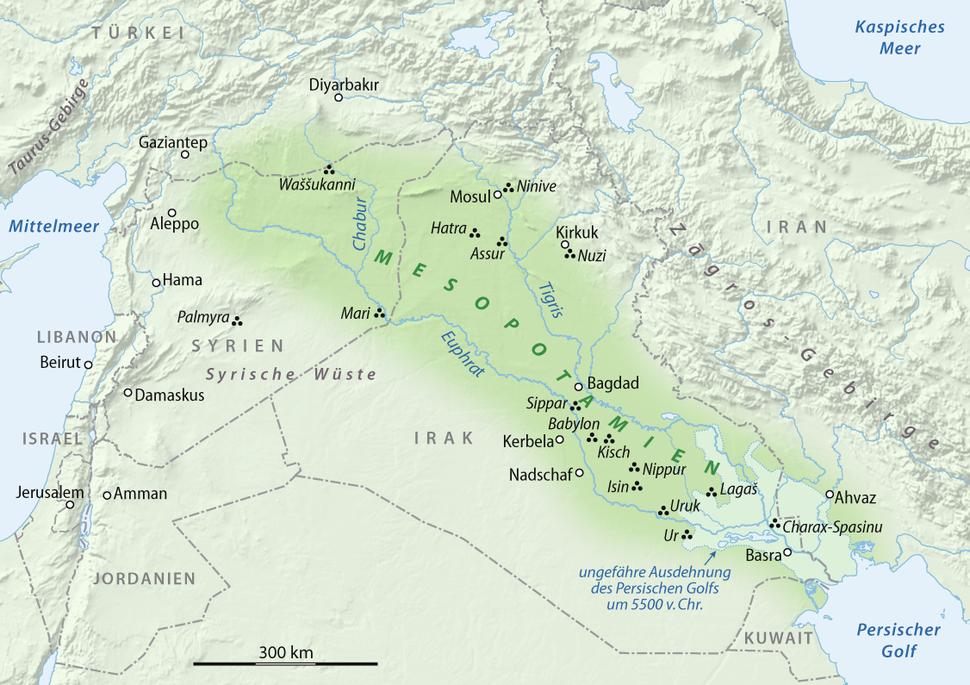 Karte Mesopotamien