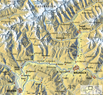 Map of the Puster Valley. Karte Westliches Pustertal.png