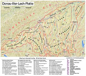 Iller-Lech Plateau - The Sub-divisions of the Iller-Lech Plateau