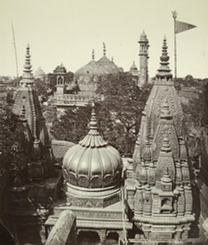 Hindu temples in Varanasi - 1905 picture of Kashi Vishwanath Temple
