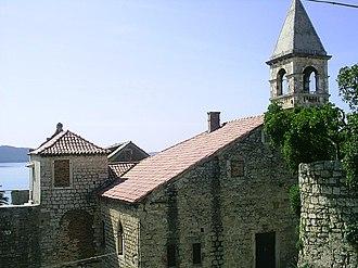 Kaštela - Image: Kastel Sumbulovac, domy z 14. 17. stol