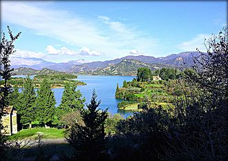 Kastraki (lake) - Image: Kastraki lake Aetolia & Acarnania regional unit Greece 2014 01 26 01 25