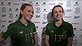 Katie McCabe Aine O'Gorman Republic of Ireland mix zone 2020-03-05.jpg