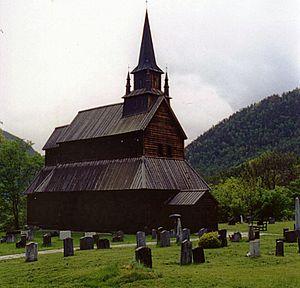 Sogndal - Kaupanger stave church.