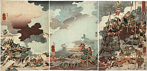 Yamamoto Kansuke (general) - The death of Yamamoto Kansuke. Believing his strategy had failed, Kansuke charged the enemy and died fighting.