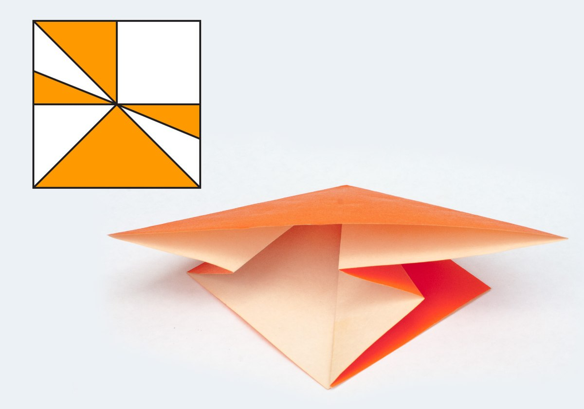 How to apply a mountain-fold in origami: page 1 | 840x1200