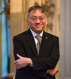 Kazuo Ishiguro i Stockholm under Det Svenske Akademis pressekonference den 6 december 2017.