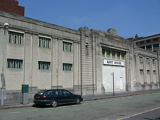 Birmingham Baths Committee - Kent Street Baths, while an empty building under the name of Kent House.